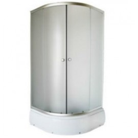 Душевой уголок с высоким поддоном Aqualux KS-LP-169 YMJ-2010-13 100х100х193 (белый)