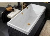 Ванна прямоугольная VILLEROY&BOCH SQUARO с гидромассажем UBQ180SQR2V-01 (белый)